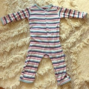 Kickee Pants Space Stripe coverall